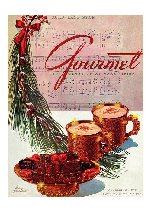 Illustration Greeting Card featuring the painting A Christmas Gourmet Cover by Henry Stahlhut