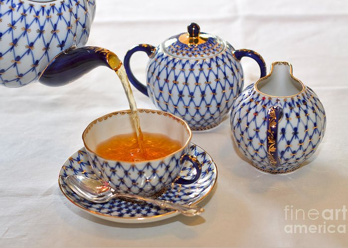 Tea Greeting Card featuring the photograph A Cup Of Tea by Louise Heusinkveld