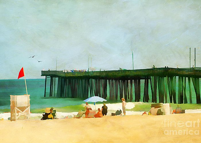 America Greeting Card featuring the photograph A Day At The Beach by Darren Fisher