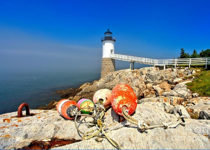 Robinson Point Lighthouse Greeting Card featuring the photograph A Day Off by Adam Jewell