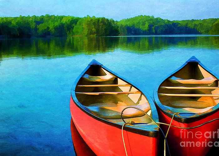Virginia Greeting Card featuring the photograph A Day On The Lake by Darren Fisher