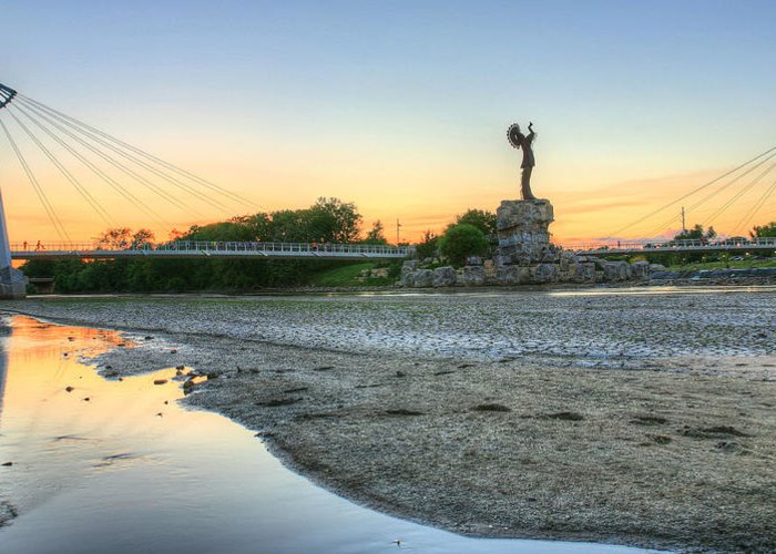 Keeper Of The Plains Greeting Card featuring the photograph A Dry Heat In Wichita Kansas by JC Findley