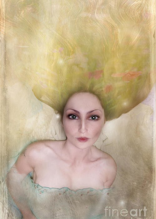 Woman Greeting Card featuring the photograph A Female Portrait by Angel Ciesniarska