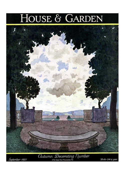 House And Garden Greeting Card featuring the photograph A French Formal Garden by Pierre Brissaud