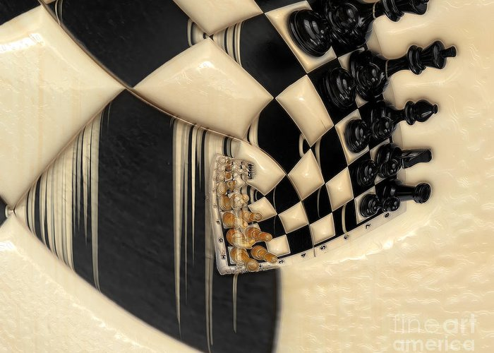 A Game Of Chess Greeting Card featuring the photograph A Game Of Chess by Liane Wright