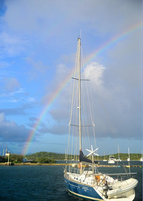 Rainbow Greeting Card featuring the photograph A Good Day by Michael Glenn