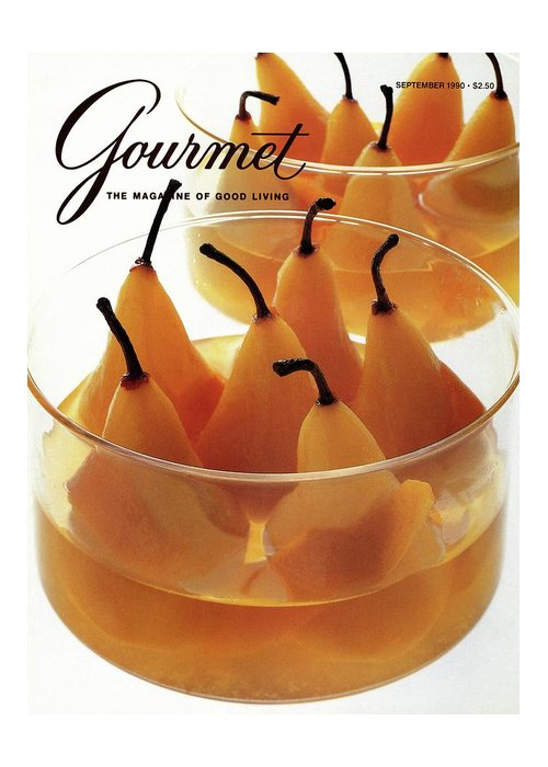 Food Greeting Card featuring the photograph A Gourmet Cover Of Baked Pears by Romulo Yanes