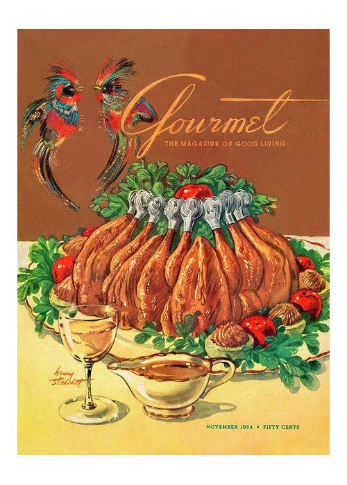 Food Greeting Card featuring the photograph A Gourmet Cover Of Chicken by Henry Stahlhut