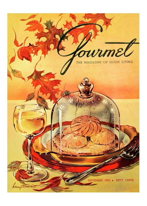 Illustration Greeting Card featuring the photograph A Gourmet Cover Of Mushrooms On Toast by Henry Stahlhut