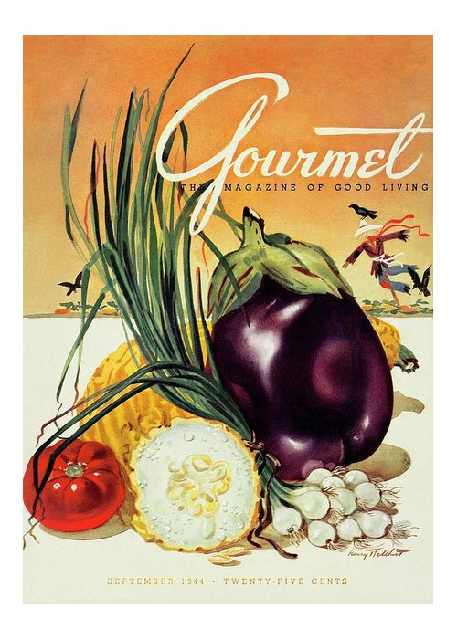 Food Greeting Card featuring the photograph A Gourmet Cover Of Vegetables by Henry Stahlhut