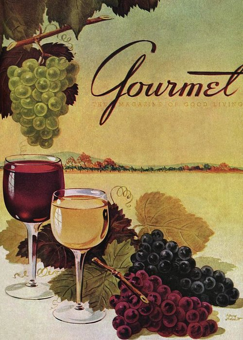 Exterior Greeting Card featuring the photograph A Gourmet Cover Of Wine by Henry Stahlhut