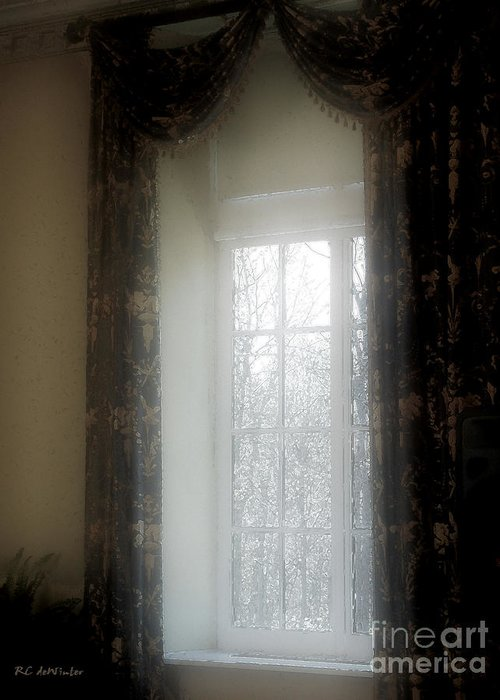 Curtains Greeting Card featuring the painting A Hazy Shade Of Winter by RC DeWinter