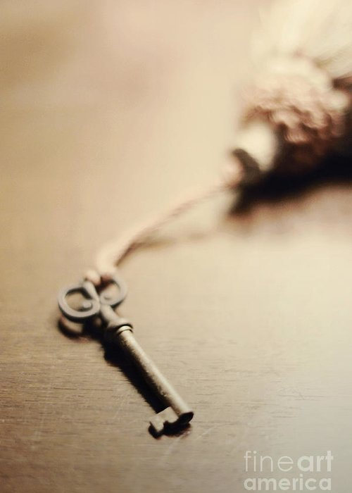 Key Greeting Card featuring the photograph A Key... by Trish Mistric