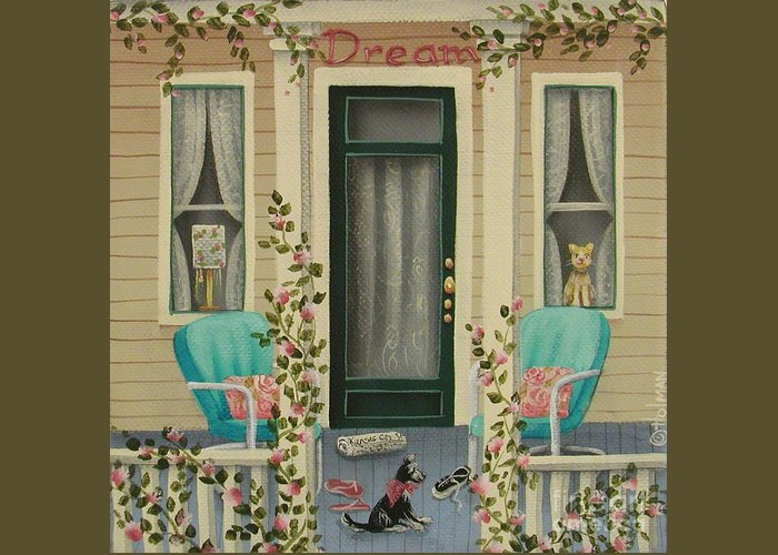Art Greeting Card featuring the painting A Lazy Saturday Morning by Catherine Holman