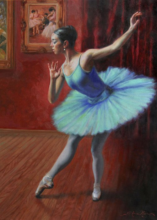 Ballerina Greeting Card featuring the painting A Legacy Of Elegance by Anna Rose Bain