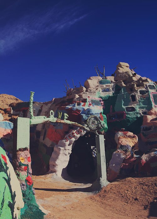 Salvation Mountain Greeting Card featuring the photograph A Loving Entrance by Laurie Search