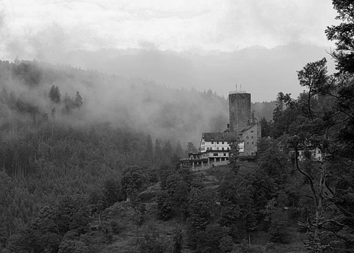 Castle Greeting Card featuring the photograph A Mighty Fortress by Martin Michael Pflaum