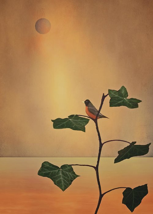 Oriole On A Branch Greeting Card featuring the photograph A Moment Of Zen by Tom York Images