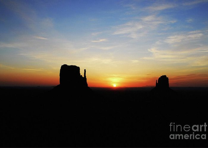 A Monumental Morning Greeting Card featuring the photograph A Monumental Morning by Mel Steinhauer