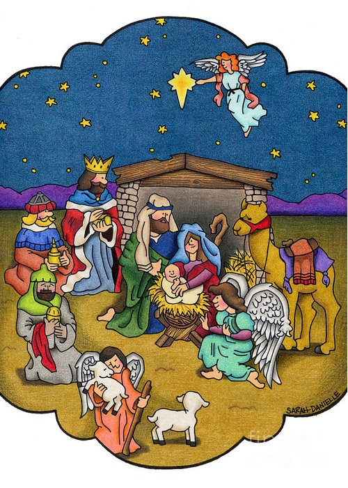 Birth Of Christ Greeting Cards