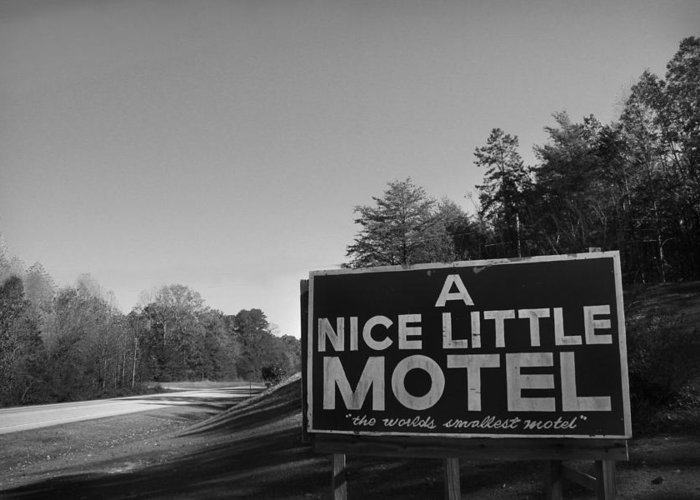 Kelly Hazel Greeting Card featuring the photograph A Nice Little Motel Sign by Kelly Hazel