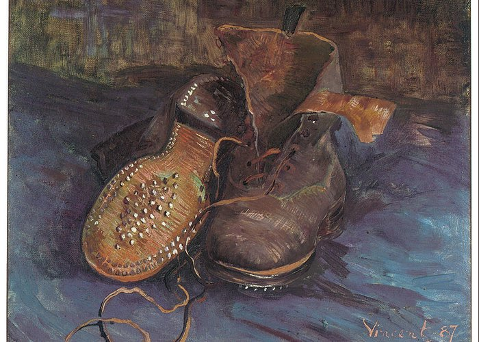 A Pair Of Boots Greeting Card Vincent Van Gogh