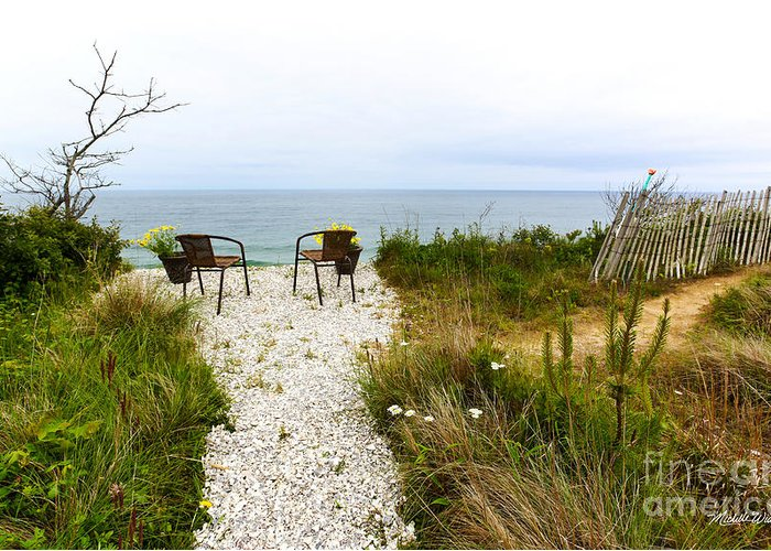 A Peaceful Respite By The Shore Greeting Card featuring the photograph A Peaceful Respite By The Shore by Michelle Constantine