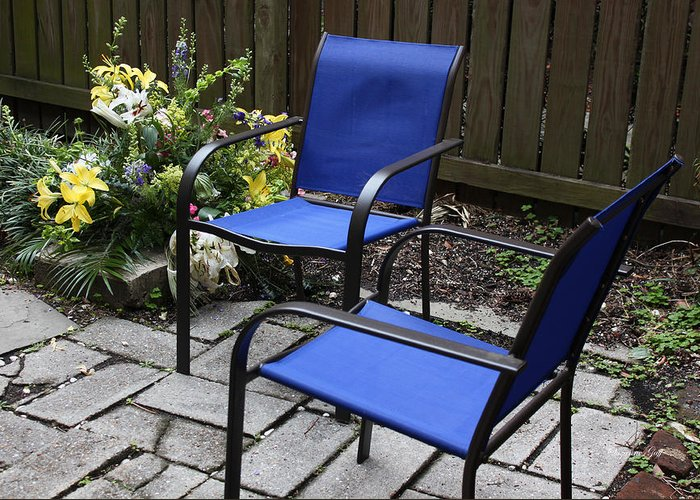 Chairs Greeting Card featuring the photograph A Place For Conversation by Suzanne Gaff