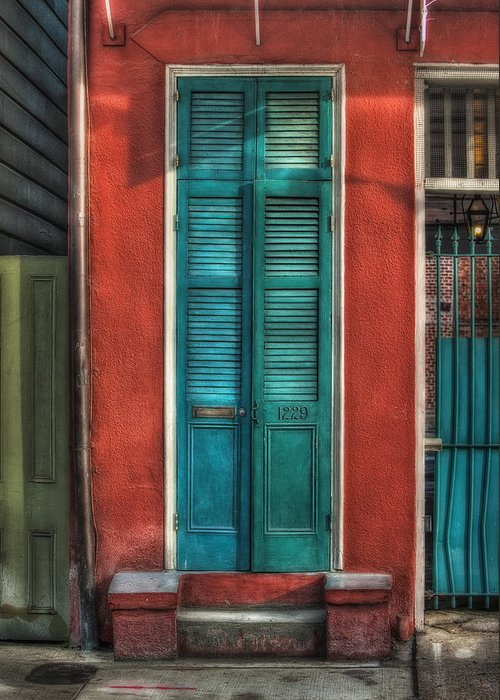 Door Greeting Card featuring the photograph A Place To Call Home by Brenda Bryant