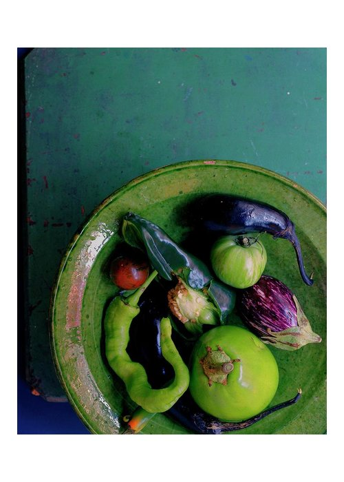 Fruits Greeting Card featuring the photograph A Plate Of Vegetables by Romulo Yanes