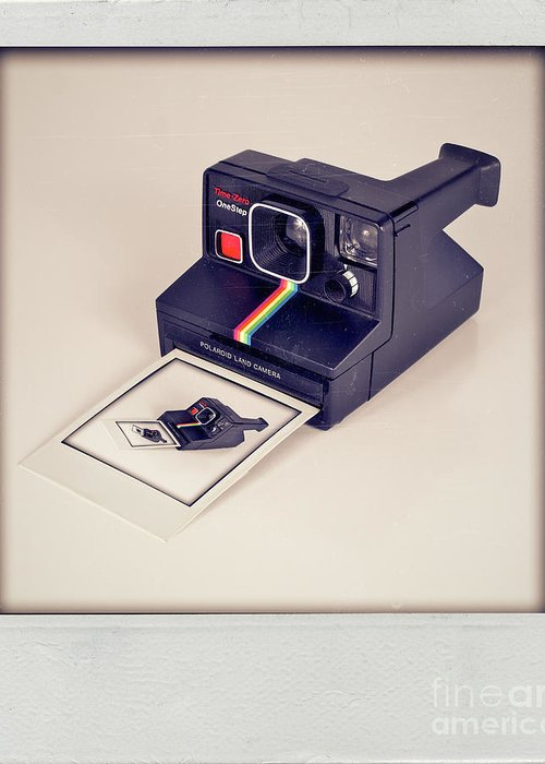 Polaroid Greeting Card featuring the photograph A Polaroid Of A Polaroid Taking A Polaroid Of A Polaroid Taking A Polaroid Of A Polaroid Taking A .. by Mark Miller