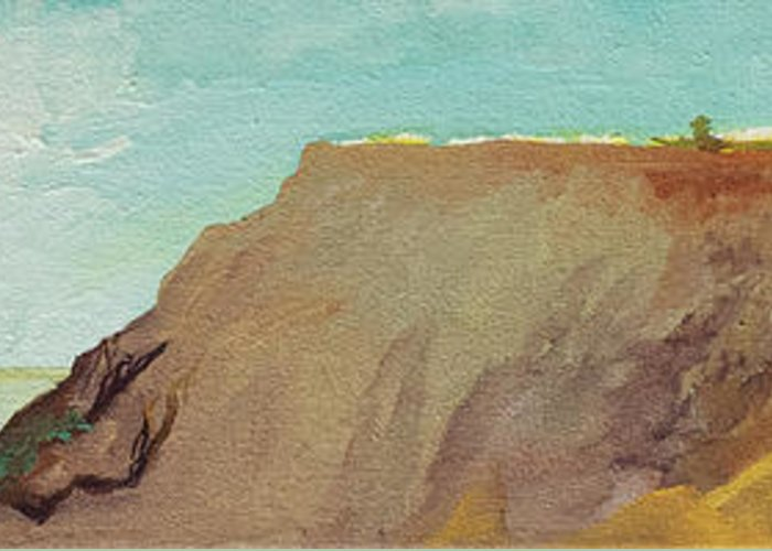 Torrey Pines Greeting Card featuring the painting A Private Spot by Joseph Demaree