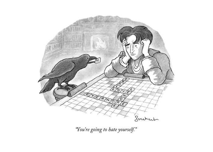 Raven Drawings Greeting Cards