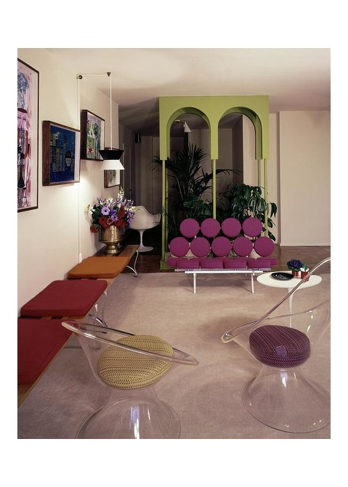 Eugene Tanawa Greeting Card featuring the photograph A Retro Living Room by Tom Leonard