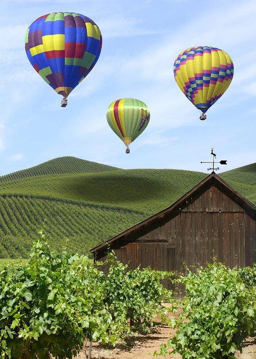 Grape Vines Digital Art Greeting Cards