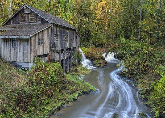 Cedar Creek Greeting Card featuring the photograph A River Flows Through It by David Gn