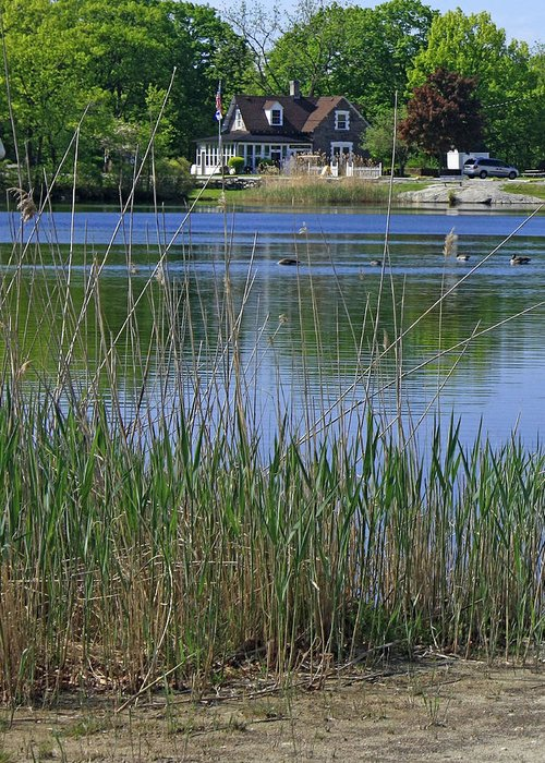 Lake Greeting Card featuring the photograph A Scenic View Of Round Pond At The United States Military Academy by James Connor