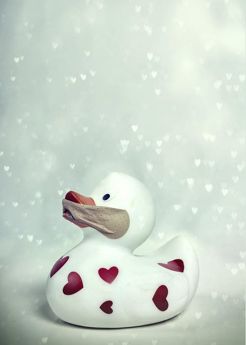Duck Greeting Card featuring the photograph A Shut Mouth Catches No Flies by Joana Kruse