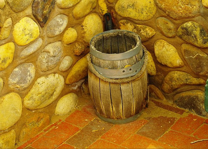 Barrels Greeting Card featuring the photograph A Sole Barrel by Jeff Swan