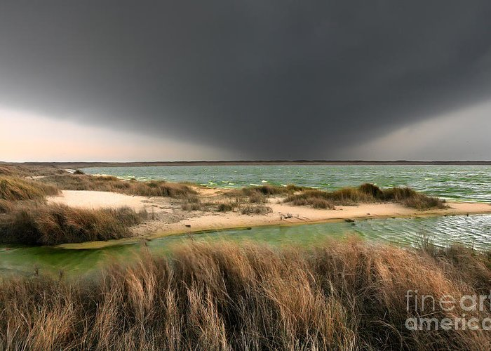 Outer Banks Greeting Card featuring the photograph A Storm A Coming - Outer Banks I by Dan Carmichael