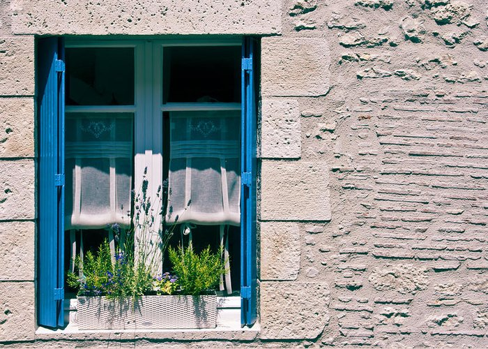 French Window Greeting Card featuring the photograph A Summer In Europe by Georgia Fowler