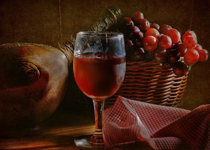 Alcohol Greeting Card featuring the photograph A Taste Of The Grape by David and Carol Kelly