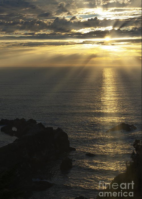Sunset Greeting Card featuring the photograph A Touch Of Heaven by Sandra Bronstein