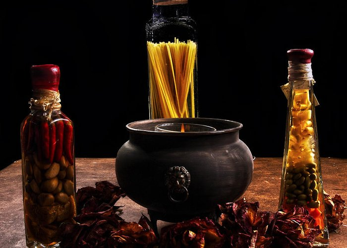 Spices Greeting Card featuring the photograph A Touch Of Italian by Camille Lopez