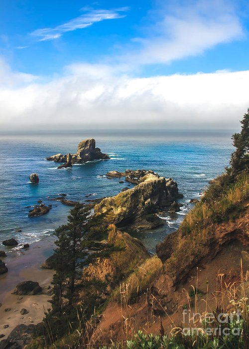Oregon Coast. Seascape Greeting Card featuring the photograph A View From Ecola State Park by Robert Bales