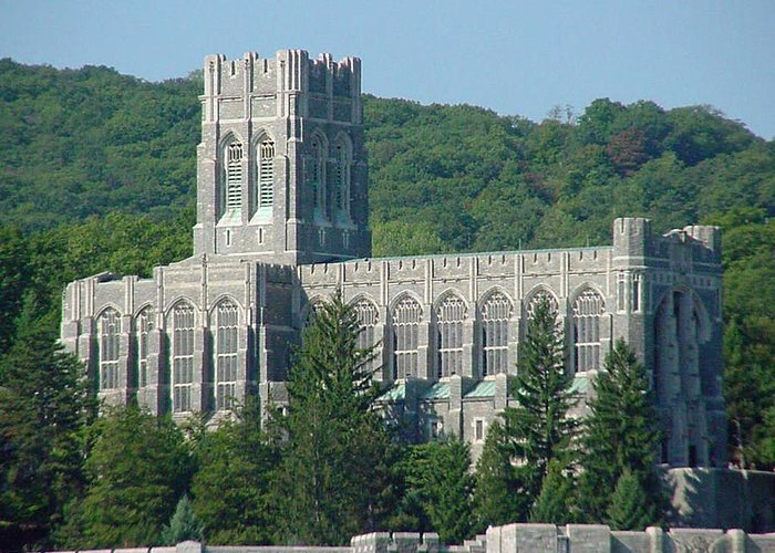 Chapel Greeting Card featuring the photograph A View Of The Cadet Chapel At The United States Military Academy by James Connor