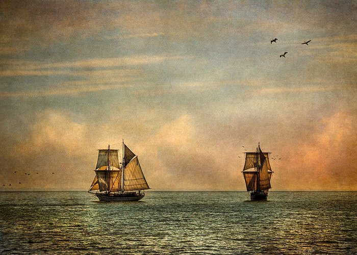 Tall Ships Greeting Card featuring the photograph A Vision I Dream by Dale Kincaid