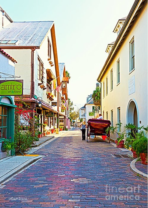 A Walk In St Augustine Greeting Card featuring the photograph A Walk In St Augustine by Michelle Wiarda