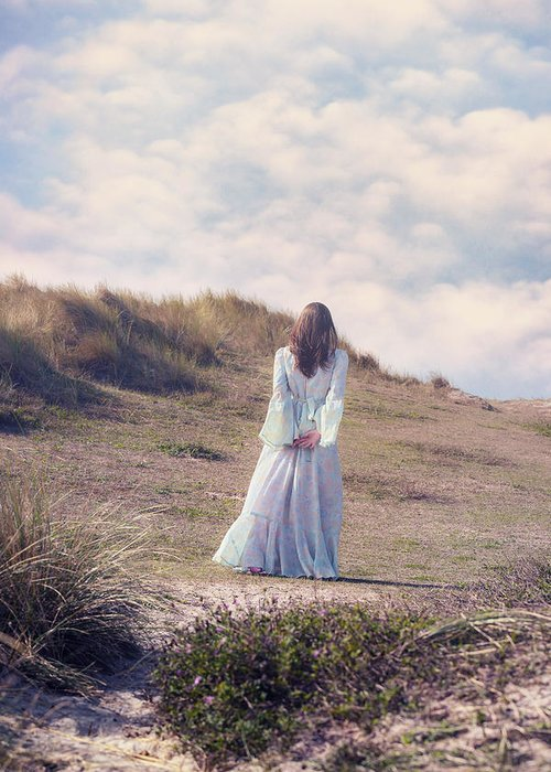 Woman Greeting Card featuring the photograph A Walk In The Dunes by Joana Kruse