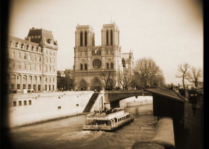 Notre Dame Greeting Card featuring the photograph A Walk Through Paris 22 by Mike McGlothlen